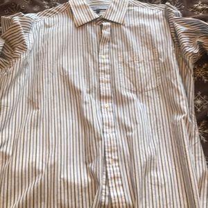 Tommy Hilfiger 17.5-34-35 dress shirt blue white